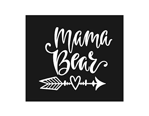 Baby Tee Time Mama Bear Iron on Heat Transfer for Shirts Cotton Polyester and More (White)