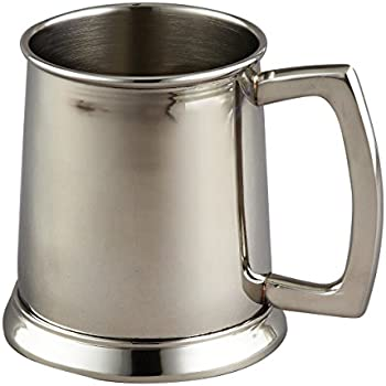 amazon com elegance stainless steel tankard 16 ounce silver