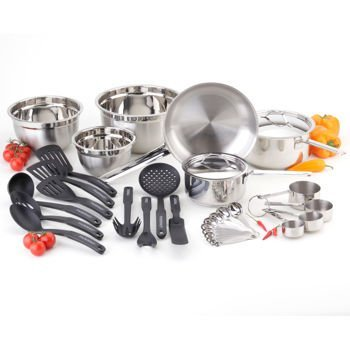Awesome Paderno 1200 05 01 Complete Kitchen Set, Classic