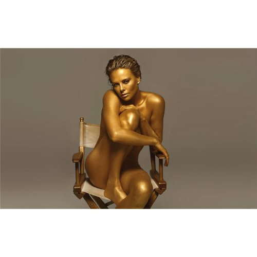 Charlize Theron Poster On Silk