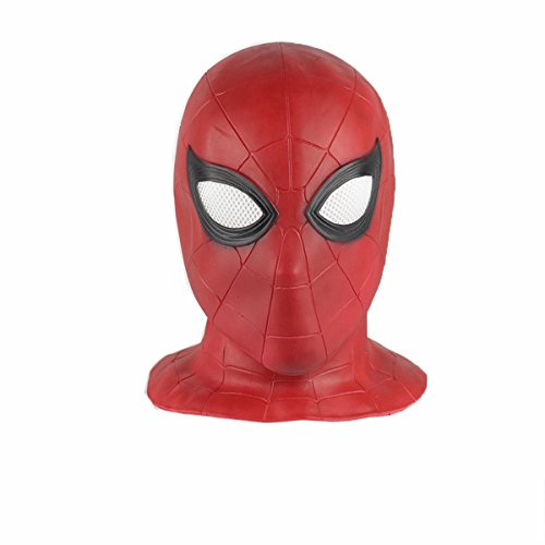 Avenger Helmet Face Full (COSFLY Adult Spider Venom Mask Homecoming Costume Cosplay Balaclava Hood Helmet (Red))