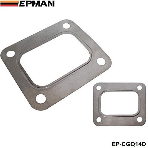 EPMAN T4 Turbo Flange Gasket 4 Bolt 304 T04E T66 T70 GT35 GT40 Exhaust Inlet Outlet (Silver, Pack of 10 ) RUIAN EP INTERNATIONAL TRADE CO. LTD