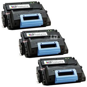 Hp Laserjet 4345xs Mfp - LD Compatible Replacements for HP 45A/Q5945A 3PK Black Laser Toner Cartridges for LaserJet 4345 Printer Series