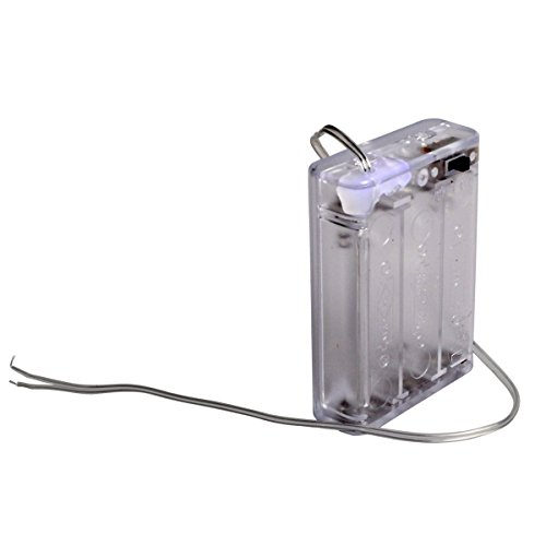 3aa Cell - Conwork 3AA Battery Holder Case Storage Box with Wires and Switch -Transparent