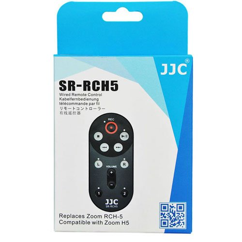 JJC SR-RCH5 Recorder Wired Remote for Zoom H5 Handy Playback Record RCH-5 RCH5 Plus A&R cleaning cloth