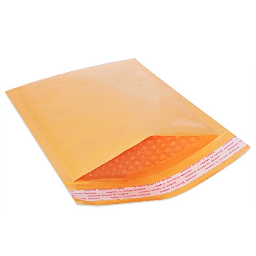 FU GLOBAL Kraft Bubble Mailers #4 Padded Mailers 9.5x14.5 Inch Bubble Envelopes - Jiffy Book