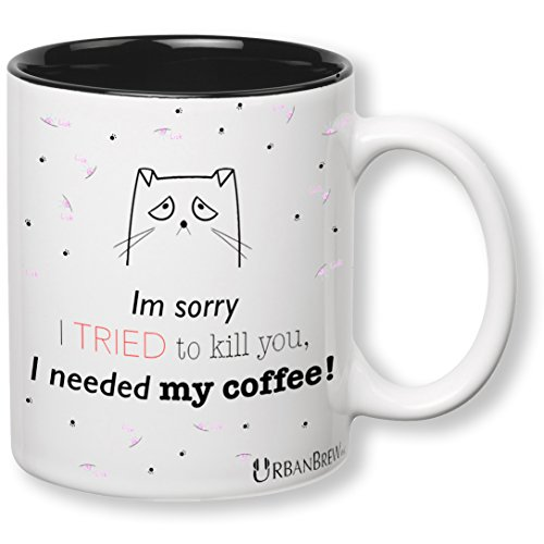 In Sad Costumes Cats (Urbe The Sad Cat Mug - Im sorry I TRIED to kill you, I needed my coffee! (Perfect Christmas Gift For Family, Friends, Cat Lovers) - UrbanBrew)