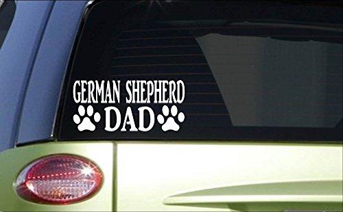 Sticker Dog Shepherd (German Shepherd Dad *H821* 8 inch Sticker decal dog training schutzhund sleeve)