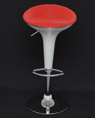 1-x-Taburete-para-bar-cocina-comedor-en-imitacin-piel-color-rojo-blanco