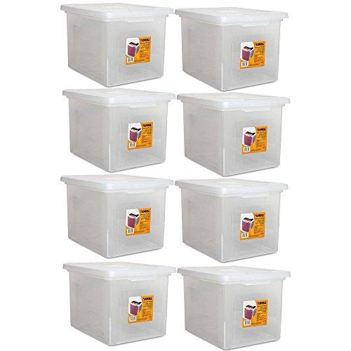 (Lorell LLR68925 Letter/Legal Plastic File Box, 8-Pack)