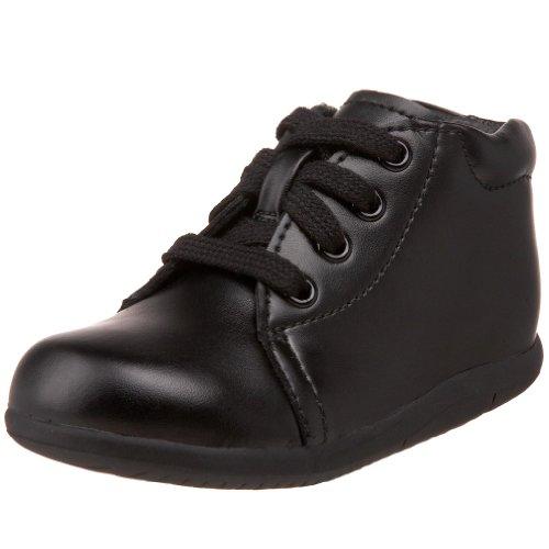Stride Rite SRTech Elliot Bootie ,Black Leather,4 M US Toddler