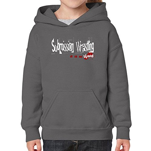 Teeburon Submission Wrestling Is In My Blood Girl Hoodie by Teeburon