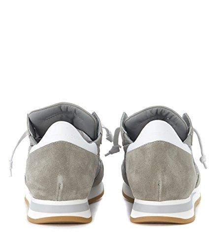 Philippe Model Sneaker Tropez Basic in Suede e Tessuto Grigio Grigio Gran Sorpresa Para La Venta NSwYBJ