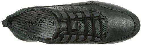 Geox U Xunday 2fit C, Scarpe Low-Top Uomo Nero (Black/Grey)