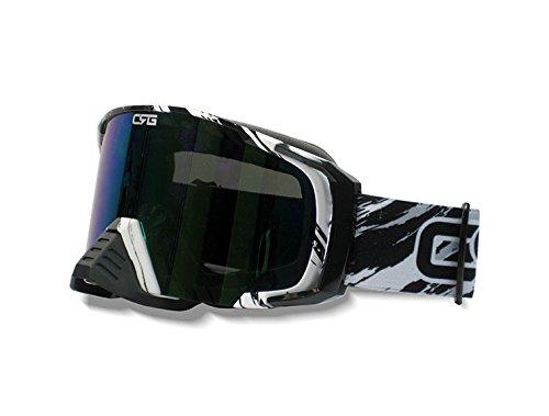 CRG Motocross ATV Dirt Bike Off Road Racing Goggles Adult T815-157 Series (Black)