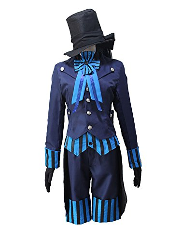 Wish Costume Shop Halloween Ciel Phantomhive Cosplay Uniform Full Sets (M, Navy Blue)]()