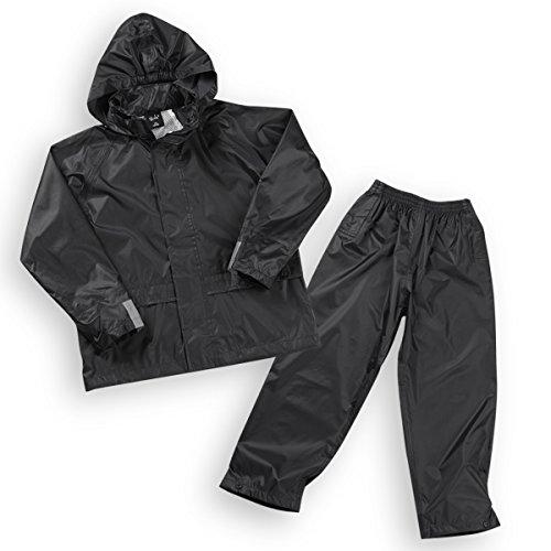 Metzuyan Youth Boys Rain Suit Waterproof Jacket & Pants Set