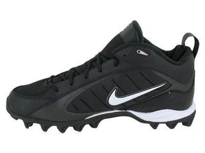 NIKE LAND SHARK MID FOOTBALL CLEATS (313398 011) BLACK/WHITE Size 9.5