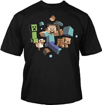 Amazon.com: Minecraft - Run Away Youth T-Shirt: Industrial ...
