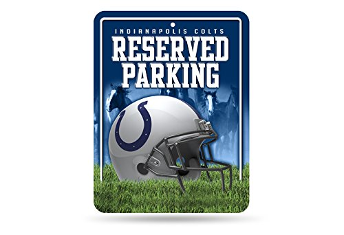 NFL Indianapolis Colts 8-Inch by 11-Inch Metal Parking Sign Décor