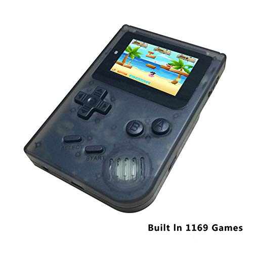 BAORUITENG Handheld Games Consoles , Retro TV Game Console Video Game Console Player 2.0 Inch Game Console with 1169 GBA System Classic Games for Kids Gift (Black)