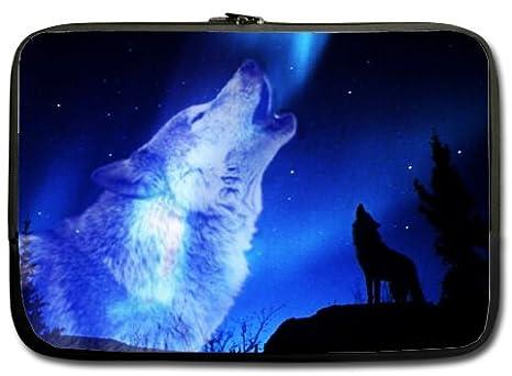 Alta calidad lobo aullando resistente al agua neopreno funda para portátil 13 pulgadas ordenador portátil bolsa