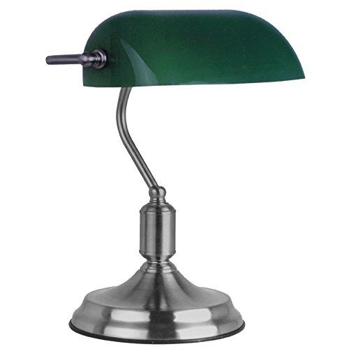 Retro Bürolampe grün Leselampe Tischlampe Banker Lampe Schreibtischlampe