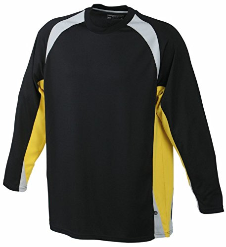 Goalkeeper Shirt Junior/James & Nicholson (JN 367k) XS S M L XL XXL, schwarz, M (122-128)