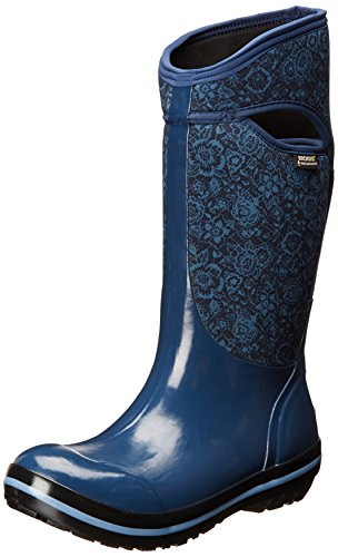 Bogs Women's Plimsoll Quilted Floral Tall Waterproof Insu...
