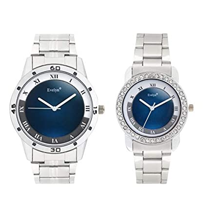 Analog Stainless Steel Watches for Lovely Couple -Eve-654-657