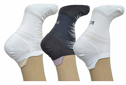 Hue Air Sleek Tab Back Liner w/Cushion Chiffon, White 3Pack (Charcoal White)