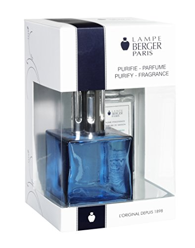 Lampe Berger 113693 Cube Giftset Blue lamp Gift Set - Cube Blue, Includes Fragrance ocean Breeze 180ml / 6.08 Fl.Oz (Burner Oil Set Fragranced)