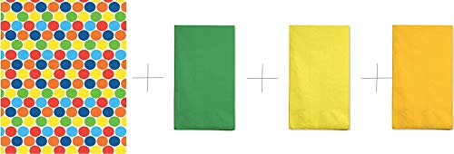 Photo Backdrop Bundle with Green, Mimosa and Yellow Napkins | Backdrop for Pictures and Paper Napkins | Backdrop Stand Together with Paper Napkins | Party Supplies: Backdrop for Pictures and Party Nap