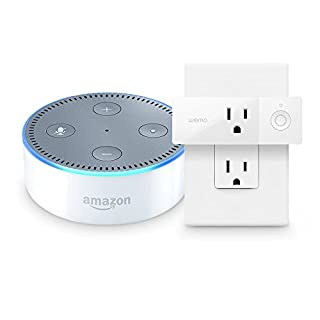 Echo Dot (2nd Generation) - White + WeMo Mini Smart Plug, Works with Alexa