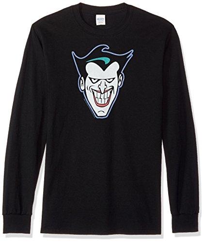 Bat Long Sleeve T-shirt - Trevco Men's Batman: The Animated Series Longsleeve T-Shirt, Joker Black, XX-Large