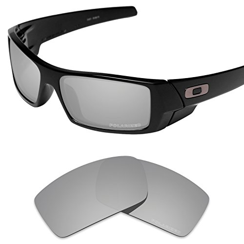 Grey Replacement Lenses - Tintart Performance Replacement Lenses for Oakley Gascan Sunglass Polarized Etched-Silver Metallic