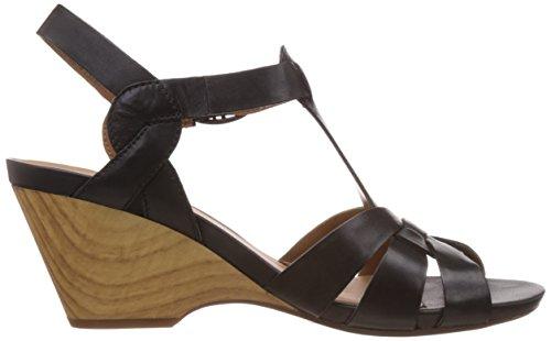 femme pour Cuir Clarks noir Violett à cheville Popple Jive Chaussures bride Morado p0qqwRxa4n