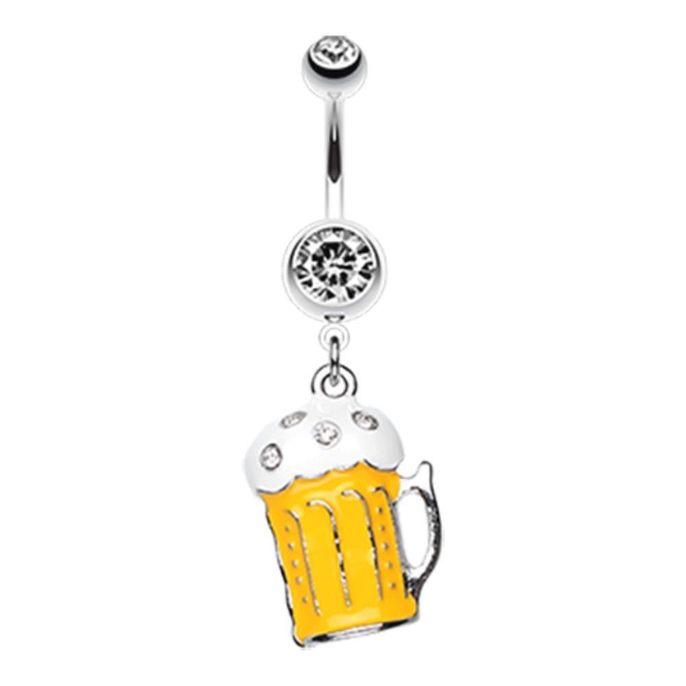 Frosty Beer WildKlass Belly Button Ring