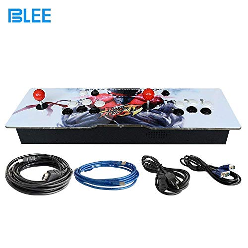 BLEE 1300 in 1 Pandora Box 6 Arcade Game Console Kit Arcade 2 Players Can Add 3000 Games USB Joystick for PC Video Game ()