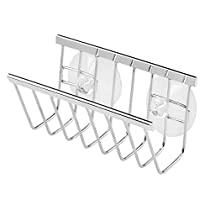 Gia Suction Soap/Sponge Holder, Polished Stainless Steel