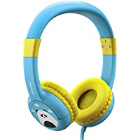 Mpow Kids Headphones, Wired On-Ear Headphones with Music Sharing Function, 85dB Volume Limited Hearing Protection, Safe Food Grade Material, 3.5mm Audio Jack Headset for Children