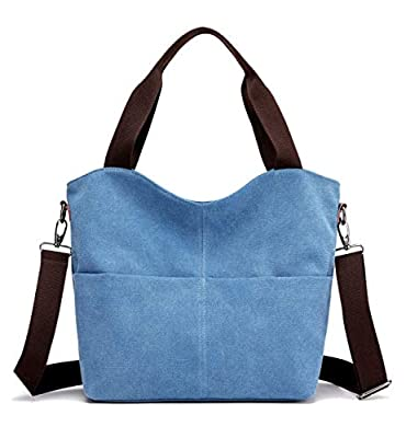 Tom Clovers Womens Tote Handbag Canvas Shoulder Bag Weekend Shopping Bag Work Bag