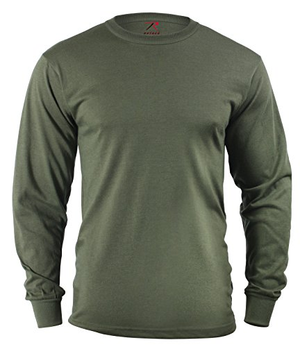 Rothco Long Sleeve T-Shirt, Olive Drab, Medium Outdoor Olive