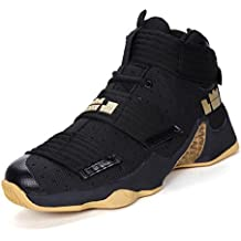 JiYe Men's Basketball Shoes for Women's Performance Sports Velcro Sneakers by