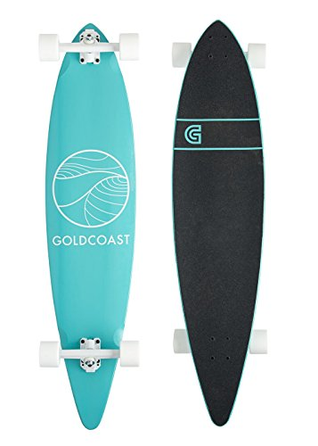 Classic Longboard Skateboard - GoldCoast Skateboard - Complete Longboard - Classic Turquoise Pintail 44