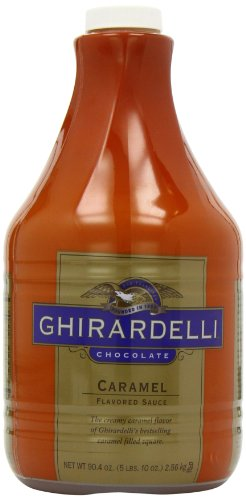 Espresso Ice Cream (Ghirardelli Chocolate Flavored Sauce, Creamy Caramel, 90.4-Ounce)