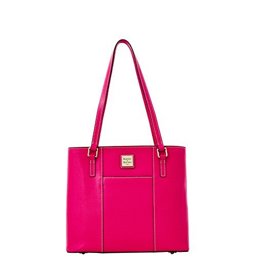 Dooney & Bourke Leather Cosmetic Case - DOONEY & BOURKE SAFFIANO SMALL LEXINGTON - Hot Pink