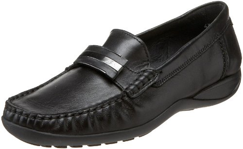 ara Women's Portland Loafer,Black Leather,6.5 M US ()