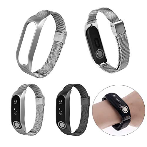 Milanese Metal Case Watch Loop Stainless Steel Watch Band Replacement Strap for Tomtom Touch (Silver) by YNAA (Image #5)