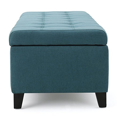 Sterling Teal Storage Ottoman